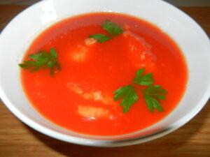 Supa de roșii cu găluște