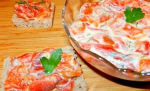 Rețeta de salată de ardei copți cu iaurt