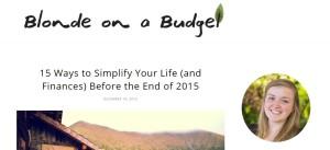 Recomandarea din această miercuri: blogul Blonde on a Budget