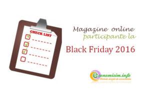 Black Friday 18 noiembrie 2016: lista magazinelor participante